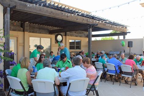 Retama St Paddy Day dinner