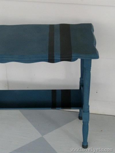 aubusson blue table