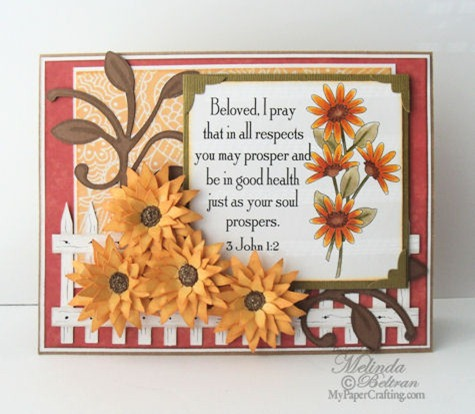 sunflower svg card 475b