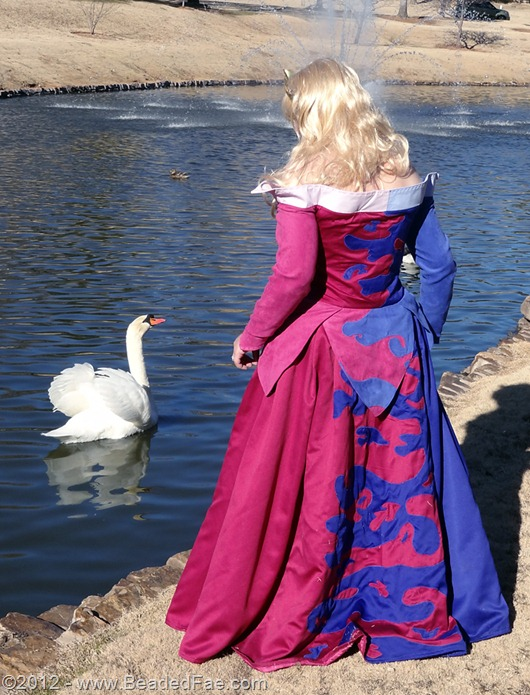 Princess Aurora's Pink and Blue Gown (Back with Swans)