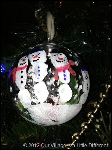 Handprint Christmas Ornament