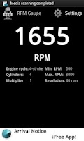 Screenshot of Acoustic Tachometer (RPM)