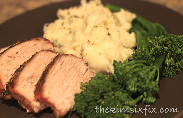 Rosemary herb pork loin
