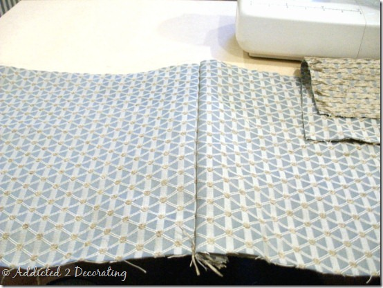 Diy Project How To Make Unlined Pinch Pleated Drapery Panels With Contrast Fabric Band