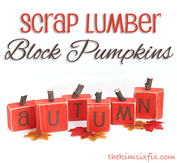 Scrap lumber block pumpkins