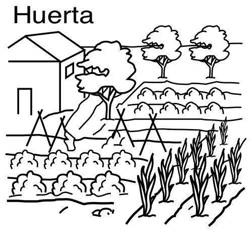 Colorear Dibujos De Huertas
