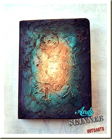 Andy skinner altered art book outcasts