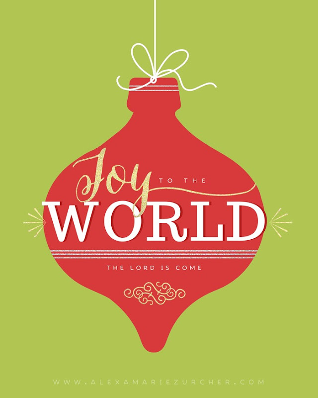 Free Christmas Printables, Joy to the World Printable