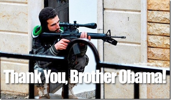 FSA Rebel - Thanks for Weapons Obama