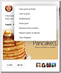 Embed Post Google Plus