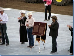 9569 Alberta Calgary Stampede 100th Anniversary - GMC Rangeland  Derby & Grandstand Show -  Parks Canada plaque designating Stampede as a national historic event
