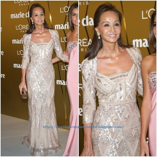 Isabel Preysler attend Marie Claire Prix de la Moda Awards 2012