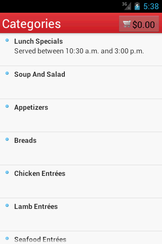 Zyka Indian Cuisine Mobile