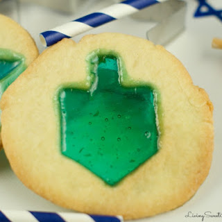 Hanukkah Stained Glass Cookies
