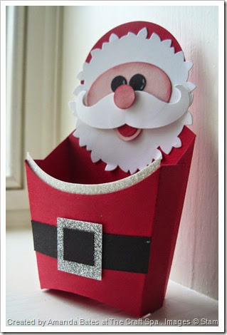 Wonderful Wreath, Santa, Punch Art Santa, by Amanda Bates, The Craft Spa  (1)
