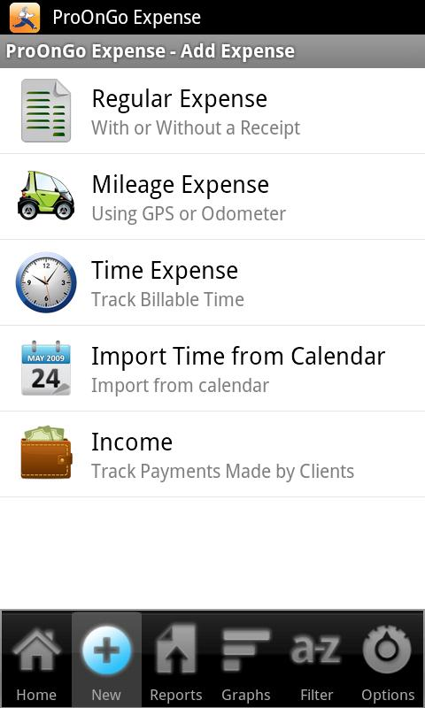 ProOnGo - Expense Tracker - screenshot