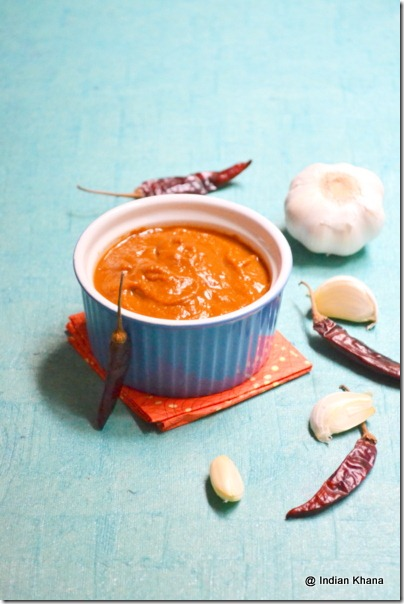 Red Chilli Spicy Garlic Chutney Recipe