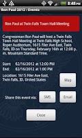 Screenshot of Ron Paul 2012 Election