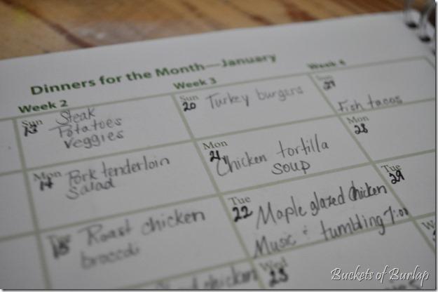 kitchen-meal calendar