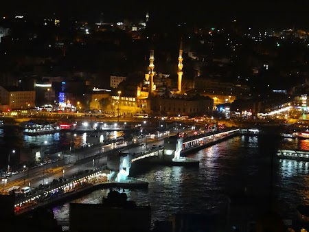 Obiective turistice Istanbul: Podul Galata si Noua Moschee
