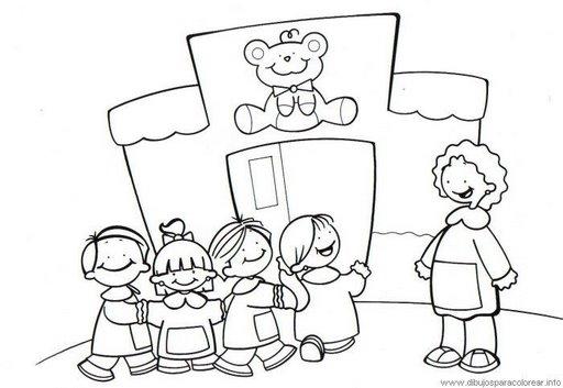 Ir al colegio en dibujo para pintar - Imagui
