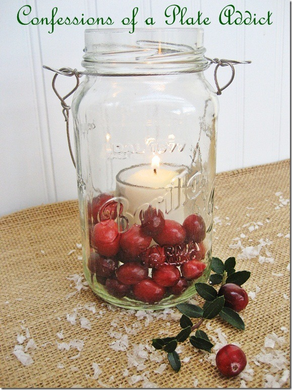 CONFESSIONS OF A PLATE ADDICT Mason Jar Christmas Candles2