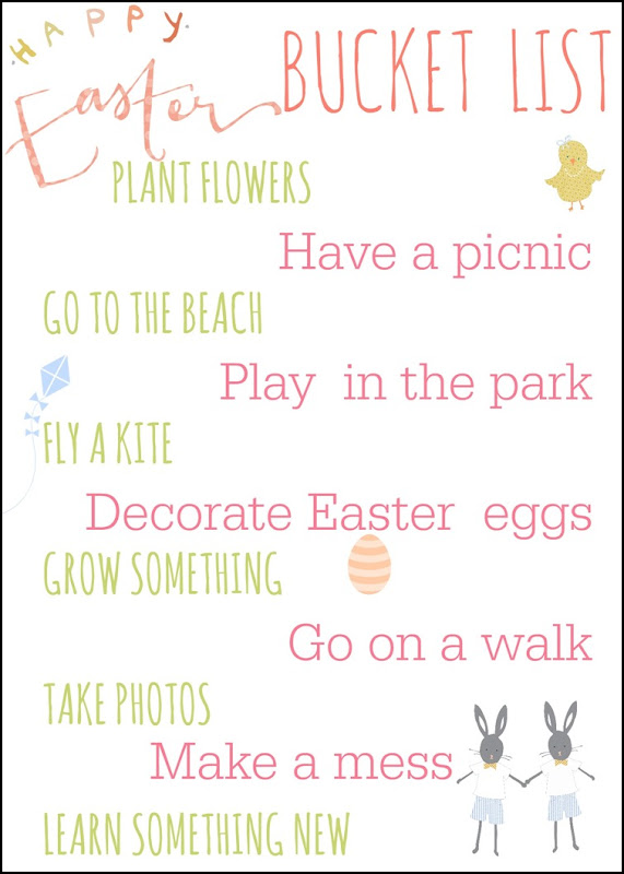 easter holiday bucket list
