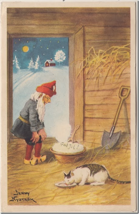 A Swedish Christmas Card Found in Ingrid Gillberg's Book of Remembrance