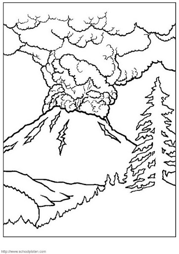 Dibujos De Volcanes Para Niños Imagui