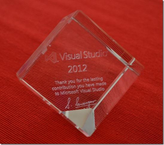 Visual Studio 2012 Crystal Cube