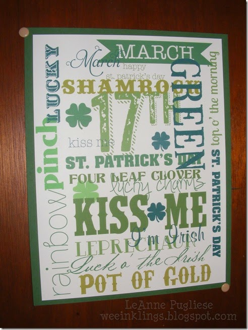 LeAnne Pugliese WeeInklings St Patricks Day Collage My Digital Studio Stampin Up