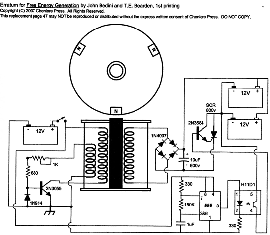free energy generation-circuits a schematics-john bedini and tom bearden 1984-2004