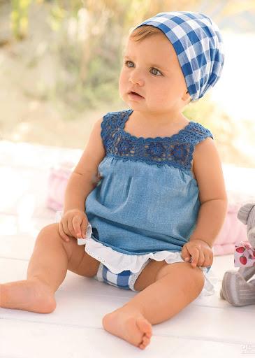 可爱 婴幼儿连衣裙 拼图