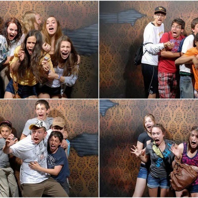 Scared Visitors of Nightmare's Fear Factory in Niagara Falls, Canada
