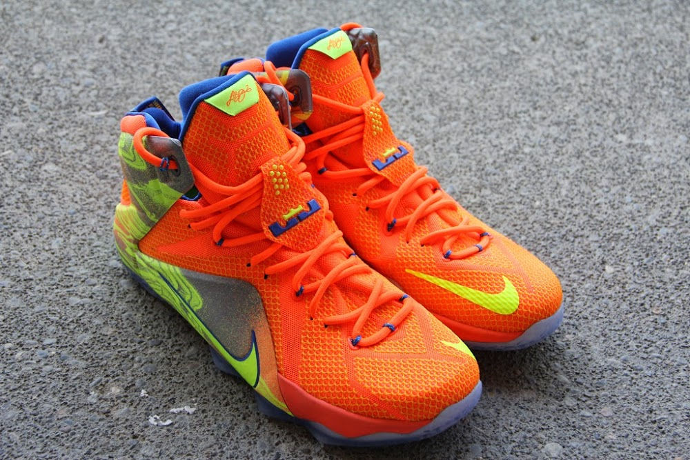 """A Detailed Look at the Orange / Volt Nike LeBron 12 """"Nerf ..."""