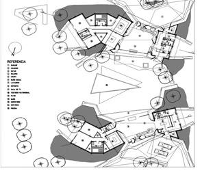 Plano de Dos casas en Luque por BAUEN