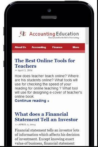Accounting Education- screenshot