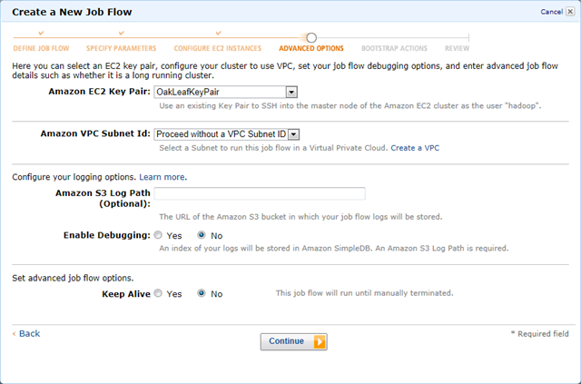 Executing an Elastic MapReduce Hive Workflow from the AWS