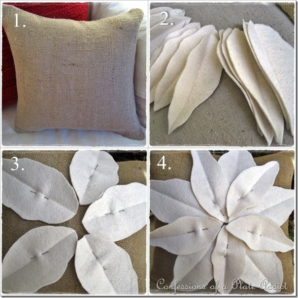 Pottery Barn Poinsettia Pillow: CONFESSIONS OF A PLATE ADDICT: Pottery Barn Inspired