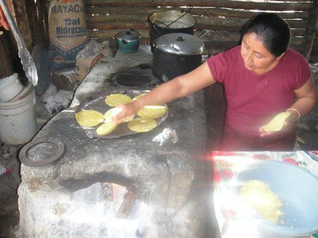 Cooking handmade tortillas