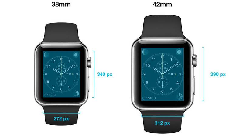 Apple Watch comes in two sizes
