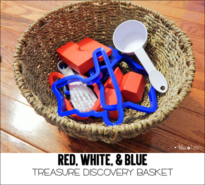 Red White & Blue Treasure Discovery Basket