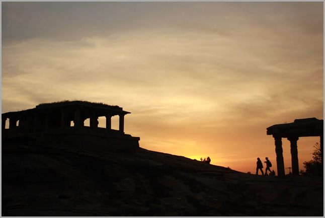 Jain temple at sunset time