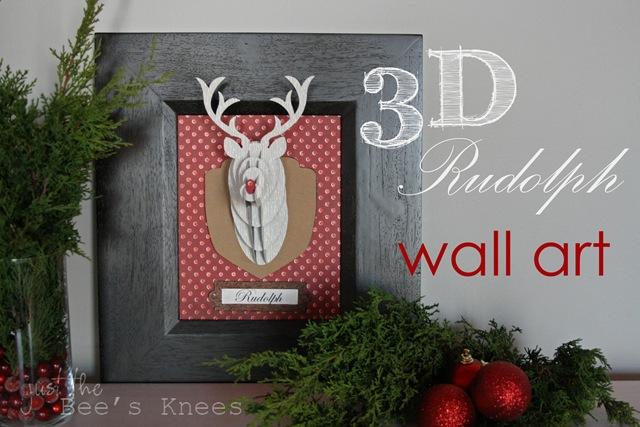 rudolph wall art