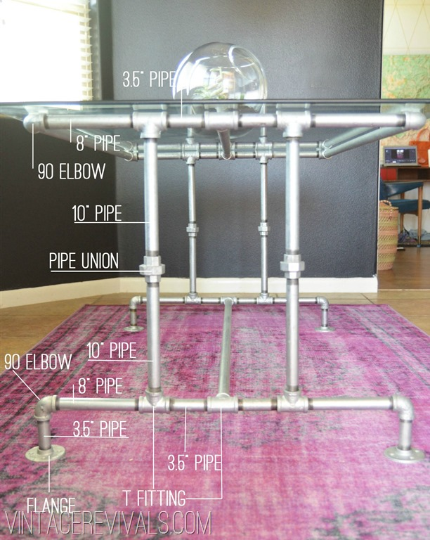 How To Build A Table Out Of Metal Conduit Pipe • Vintage Revivals