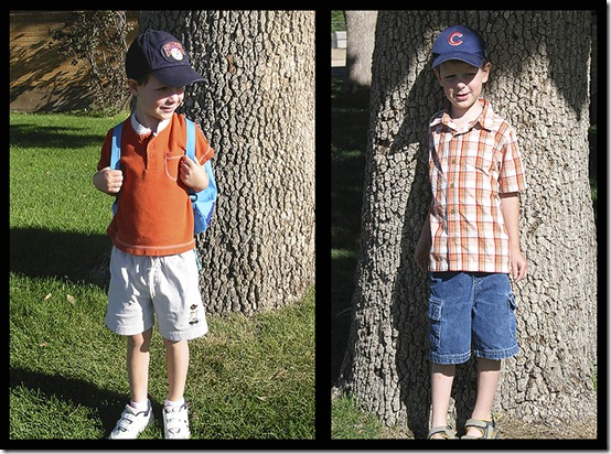 first and last day of school photo comparison