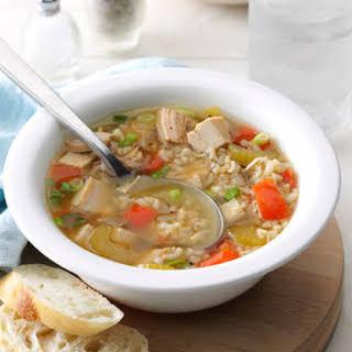 Brown Rice Turkey Soup.