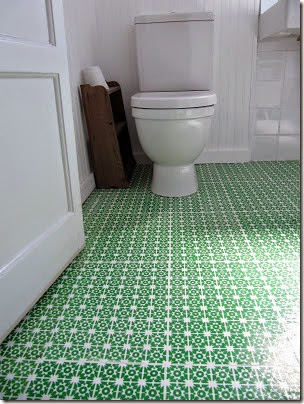 screen printed paper floors