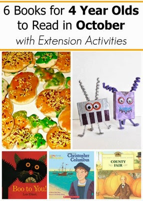 October Books for 4 Year Olds with Extension Activities