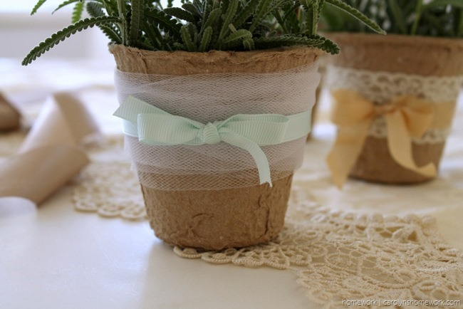 Embellished Peat Pot Table Favors - homework (3)